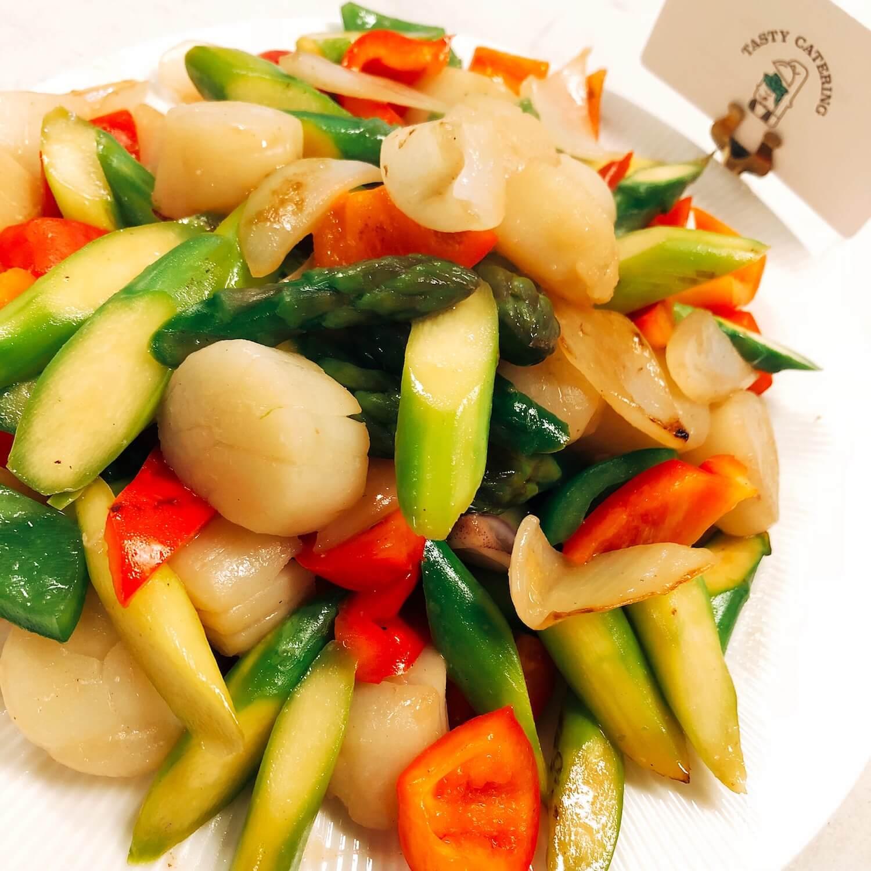 特大帶子炒澳洲蘆筍(刺身級) Sauteed Scallop with Asparagus